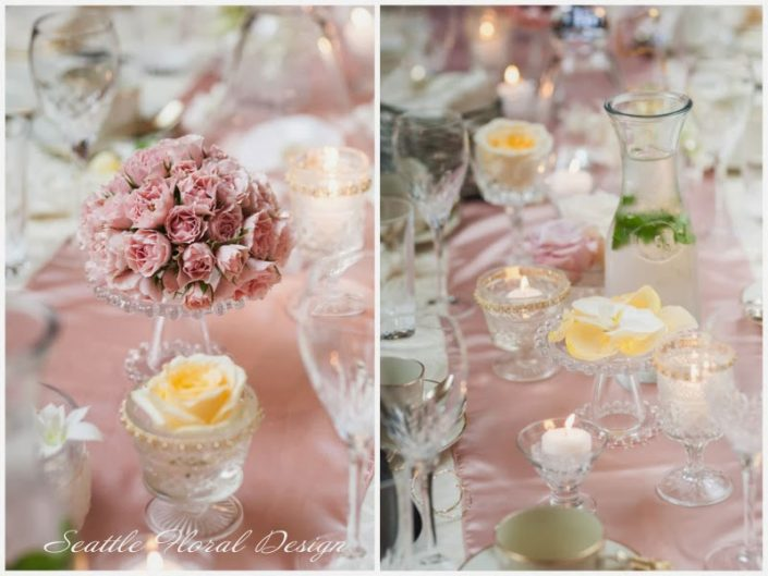 Wedding-Luxuary-centerpiece-buttercream-dusty-pink-orchids-roses-Thoornewood-Castle-Tacoma