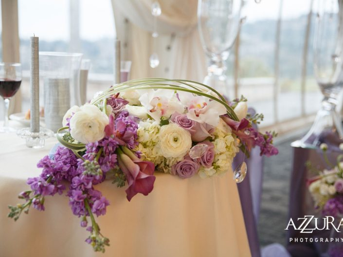 wedding-centerpiece-lavender-light-pink-calla-lily-orchid-roses-ranunculus-Newcastle-Golf-Club