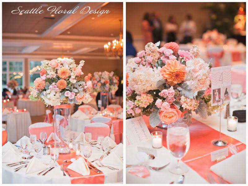 blushing romance at sahalee golf club · seattle floral design