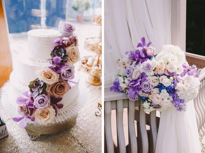 weddings-champagne-lavender-silver-vintage-rose-orchids-succulent-wedding-cake