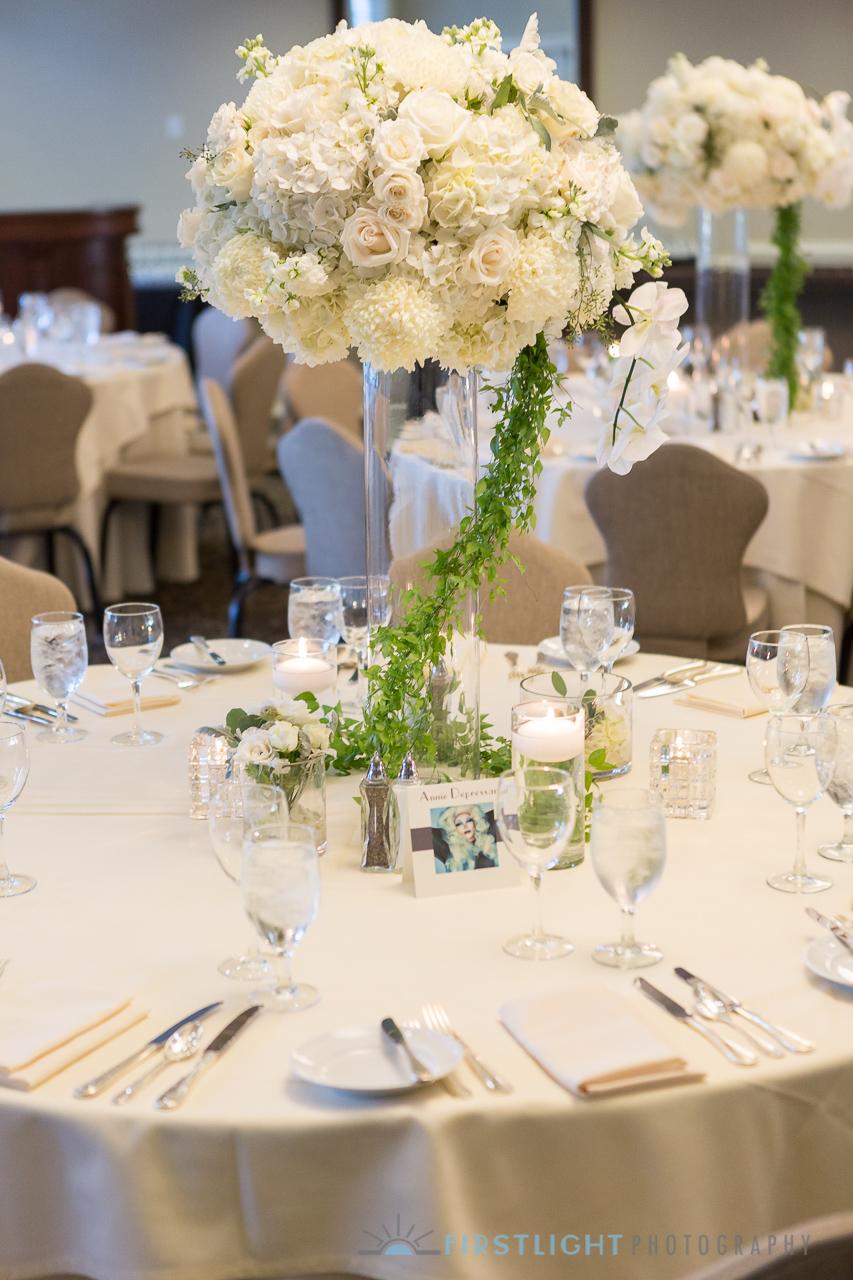 Trending-20 Chic White and Green Wedding Centerpiece Ideas ... |Tall Green Centerpiece