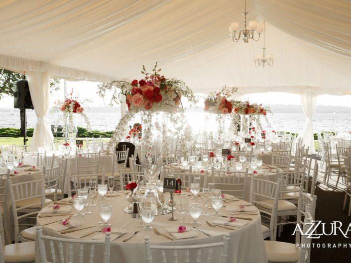 wedding-reception-centerpieces-Woodmark-Hotel-orchids-magenta-hot-pink
