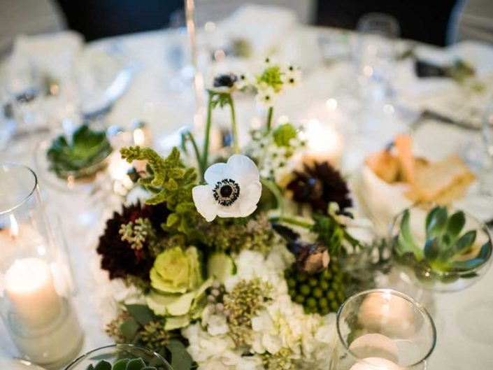 Four Seasons Wedding Reception centerpiece